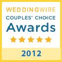 weddingwire award 2012